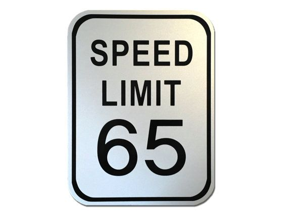 "Custom Reflective Speed Limit Sign 9"" x 12"""