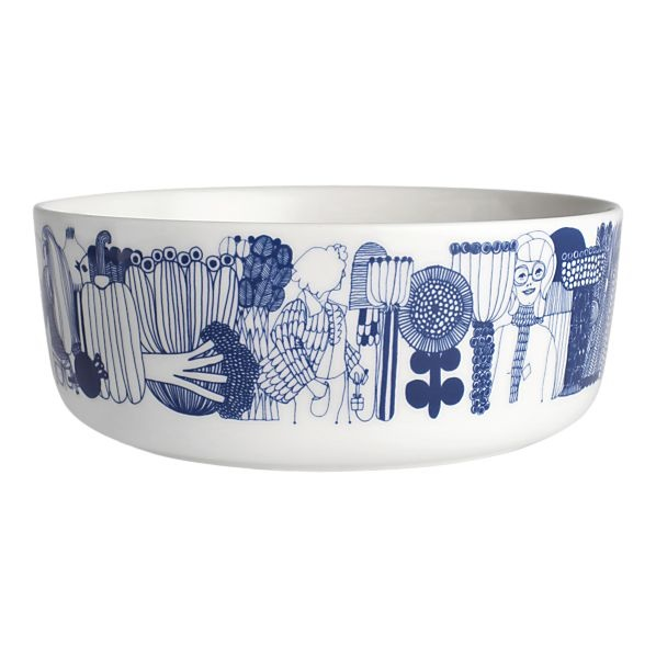 """Marimekko Siirtolapuutarha Blue and White 8"""" Bowl--I don't think you can understand just how much I love this bowl."""