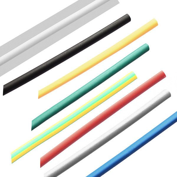 1m 4.0mm 7 Color 2:1 Polyolefin Heat Shrink Tubing Tube Sleeving Wrap. Description :  	 	Supplied internal diameter:4.0 mm minimum 	Fully shrunk internal diameter:2.0 mm maximum 	Colour:Black,Blue,Green,Grey,Red,White,Yellow 	Length:1M 	Shrinkage Ratio:2:1 (will shrink to 1/2 its supplied diameter) 	Material:Polyolefin 	Minimum Shrinkage Temp: 70°C 	Full Shrinkage Temp: 110°C maximum 	Operating Temperature:-55°C to  125°C 	Tensile strength:10.4 Mpa 	Dielectric strength:15 kV/mm…