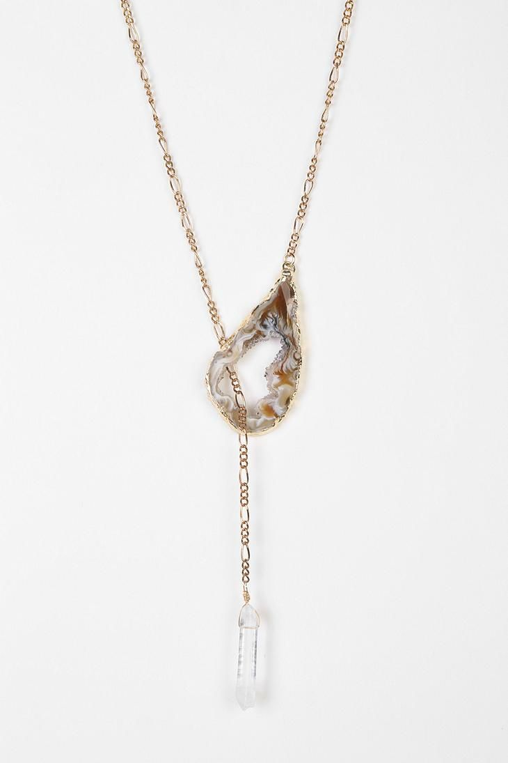 Jessica DeCarlo Agate Geode Lariat Necklace #urbanoutfitters