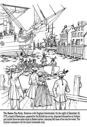 colonists coloring pages | 17 Best images about Coloring Pages/LineArt Revolutionary ...