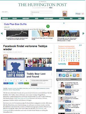 Huffington Post  http://www.huffingtonpost.de/2014/01/21/facebook-verlorene-teddys_n_4636863.html?utm_hp_ref=entertainment