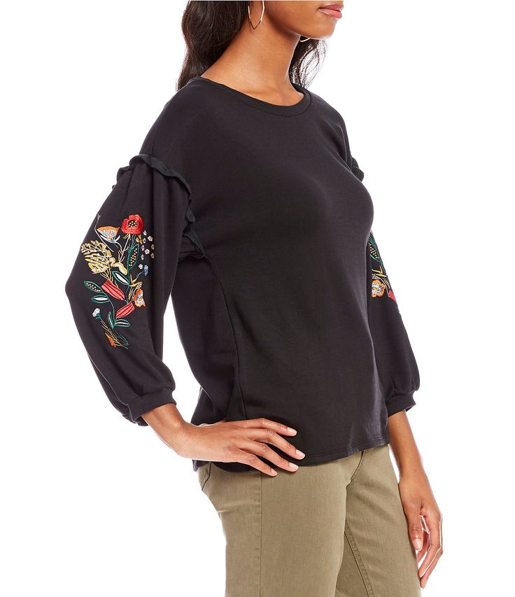 Shop for Gibson & Latimer Embroidered Sleeve Top at Dillards.com. Visit Dillards.com to find clothing, accessories, shoes, cosmetics & more. The Style of Your Life.