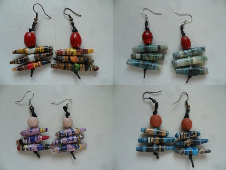 Come fare orecchini con perle di carta - Tutorial in Italiano.