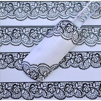 [XmasSale]White+Lace+Nail+Stickers+–+CAD+$+2.45