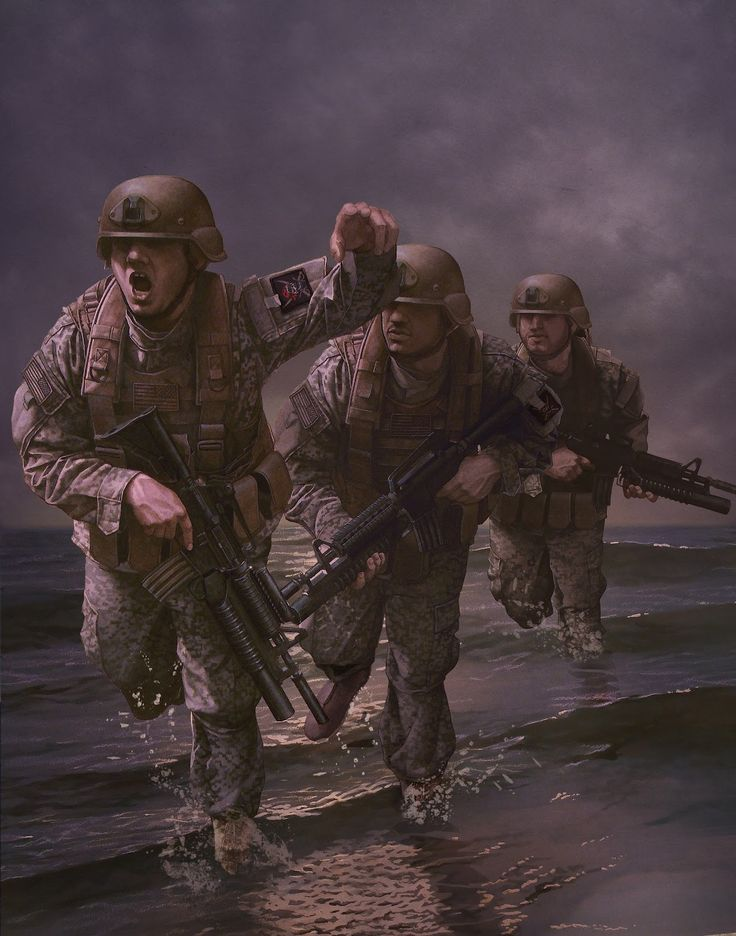 US Navy Seal troops in Iraq