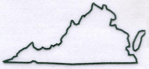 Virginia Outline Vacation Tips Machine Embroidery