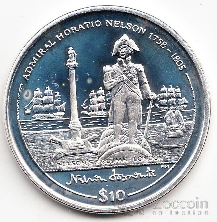Брит. Виргинские острова 10 долларов 2005 Горацио Нельсон