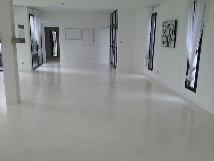 B ton liss blanc architecture rev tements de sol pinterest search - Beton cire blanc brillant ...