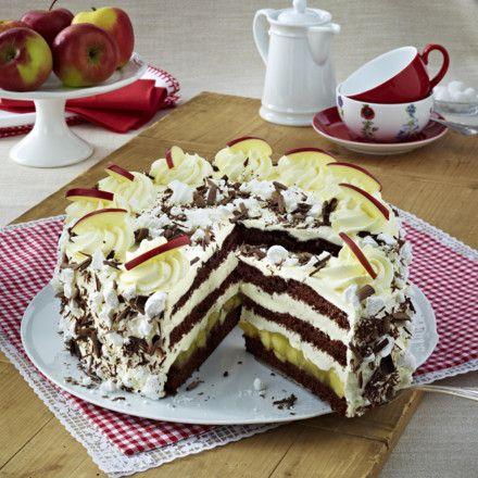 Schoko-Apfel-Torte Rezept | LECKER