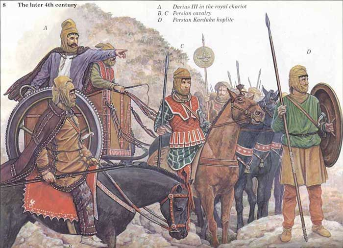 Darius III with some of his troops, late 4th cent.