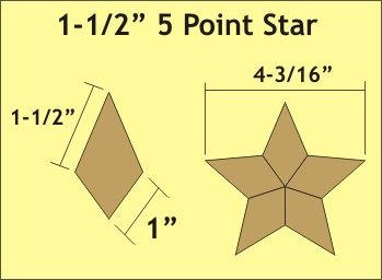 pattern for five pointed star quilt | inch 5 point star graphic More