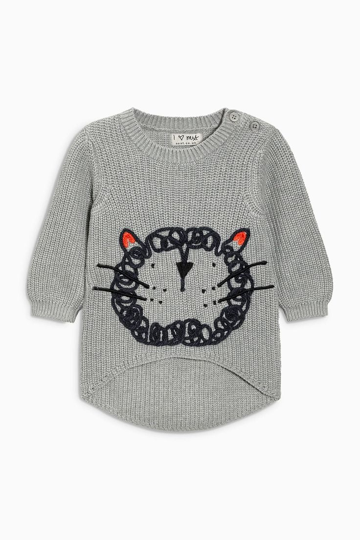 Buy Grey Cat Jumper (3mths-6yrs) from the Next UK online shop