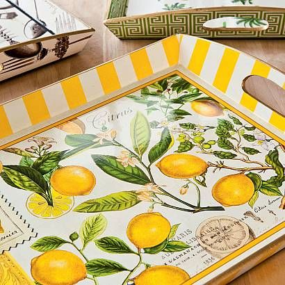 Decoupage trays #TheInspiredTable