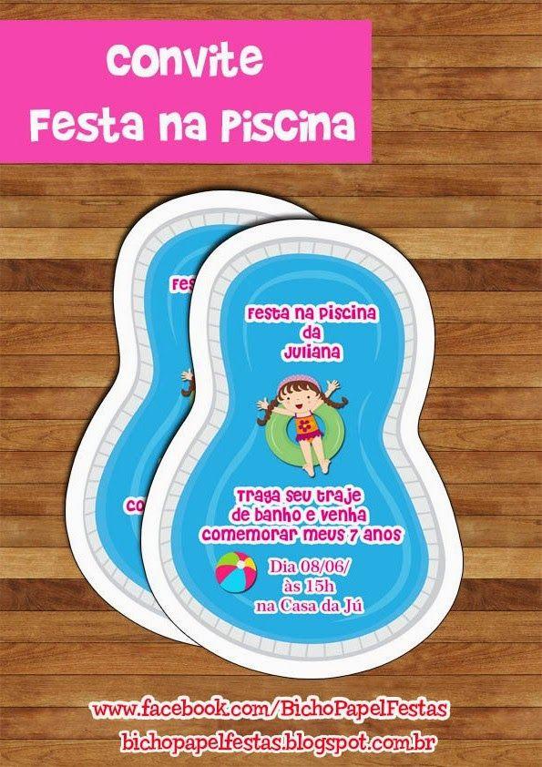 Arte Convite Festa na Piscina