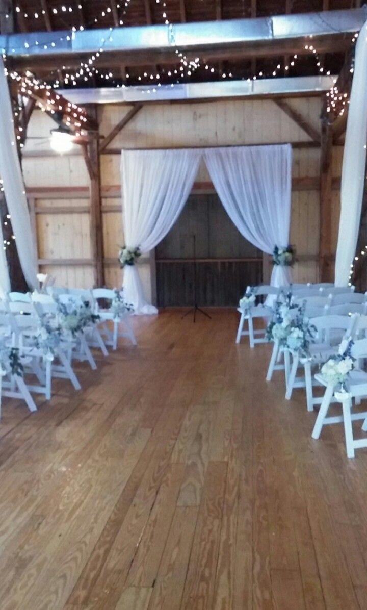 Cold, rainy day? No worries, the barn will be a fabulous and intimate alternative to an outdoor ceremony!