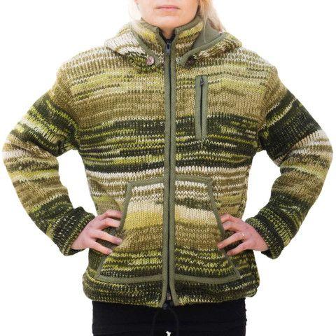 Green Wool Womens Jacket