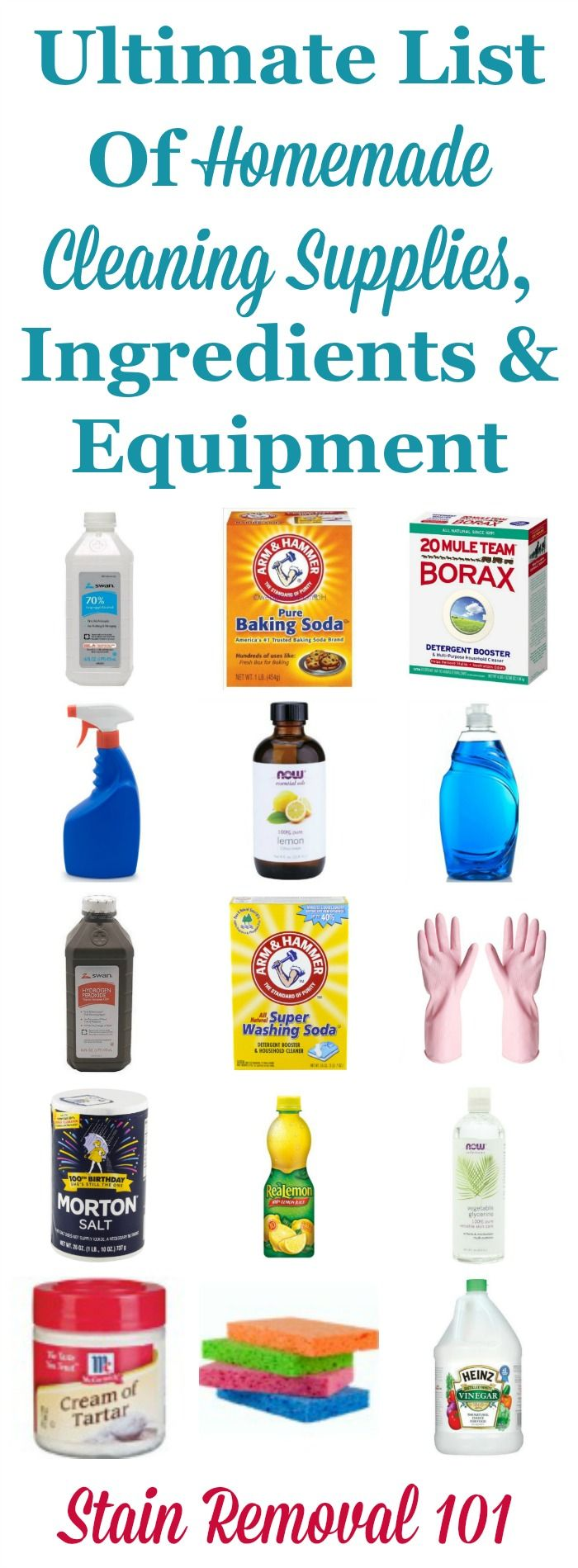 The ultimate list of homemade cleaning supplies  ingredients and equipment  needed to make all of. Best 25  Cleaning supplies ideas on Pinterest   Organizing