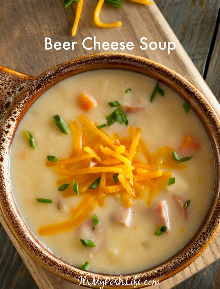 Homemade Beer Cheese Soup http://poshonabudget.com/2016/11/homemade-beer-cheese-soup.html via @poshonabudget