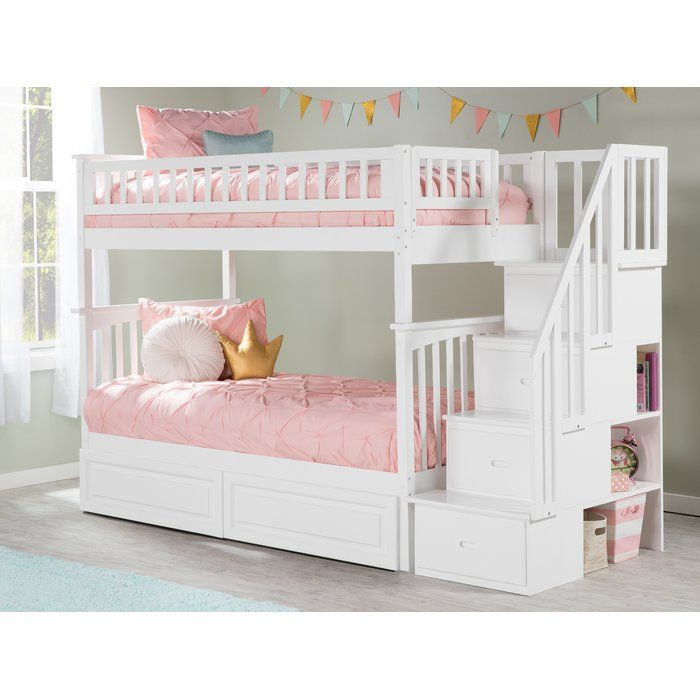 Henry Staircase Bunk Bed With Shelves Bunk Bed With Trundle