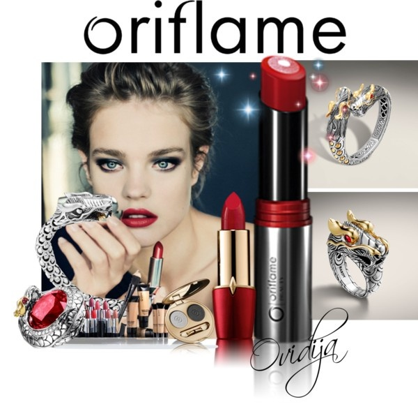 """""""Oriflame bright red"""" by ovidija ❤ liked on Polyvore"""