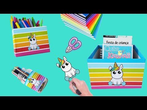 3 IDEIAS KAWAII SUPER FOFAS PARA FAZER NO SEU O MATERIAL ESCOLAR - YouTube