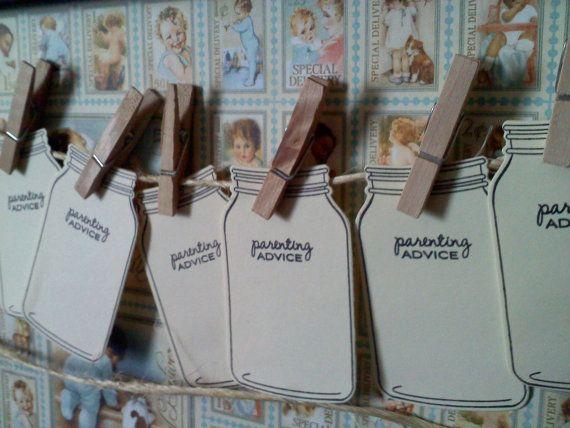 50 Mason Jar Tags Wish Cards Parenting Advice Rustic