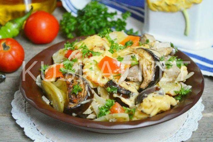 Мясо с овощами в духовке. Пошаговый рецепт с фото