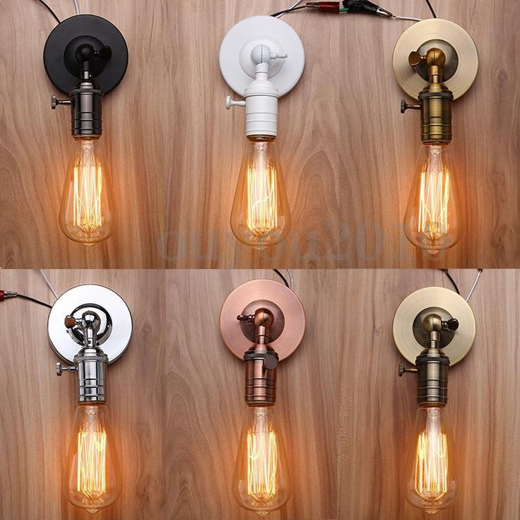 Vintage Edison E27 Ampoule Retro Douille Support Socket Culot Lampe Applique NF | eBay