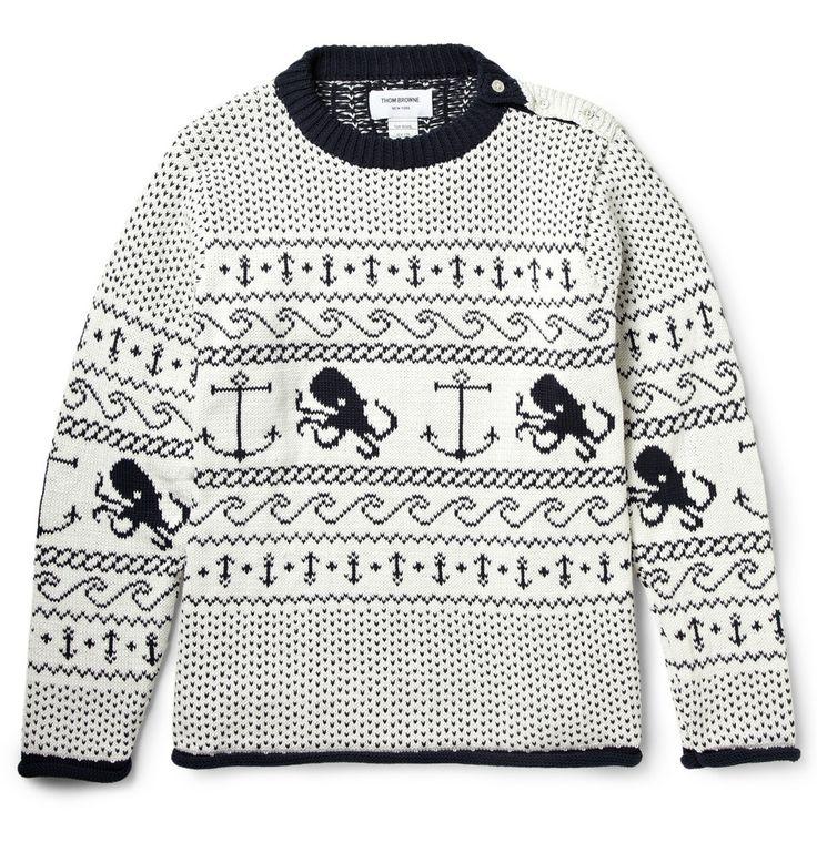 Thom Browne - Fair Isle Cotton Sweater|MR PORTER