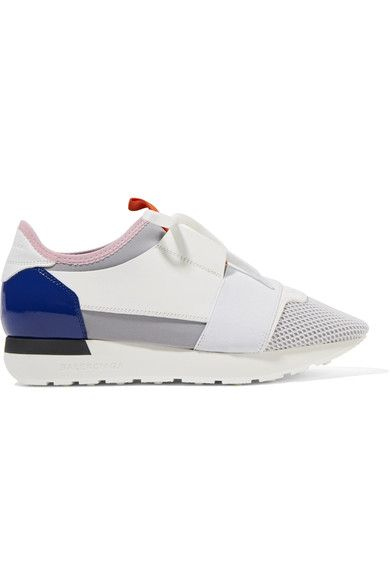 Balenciaga - Race Runner Leather, Mesh And Neoprene Sneakers - White - IT40