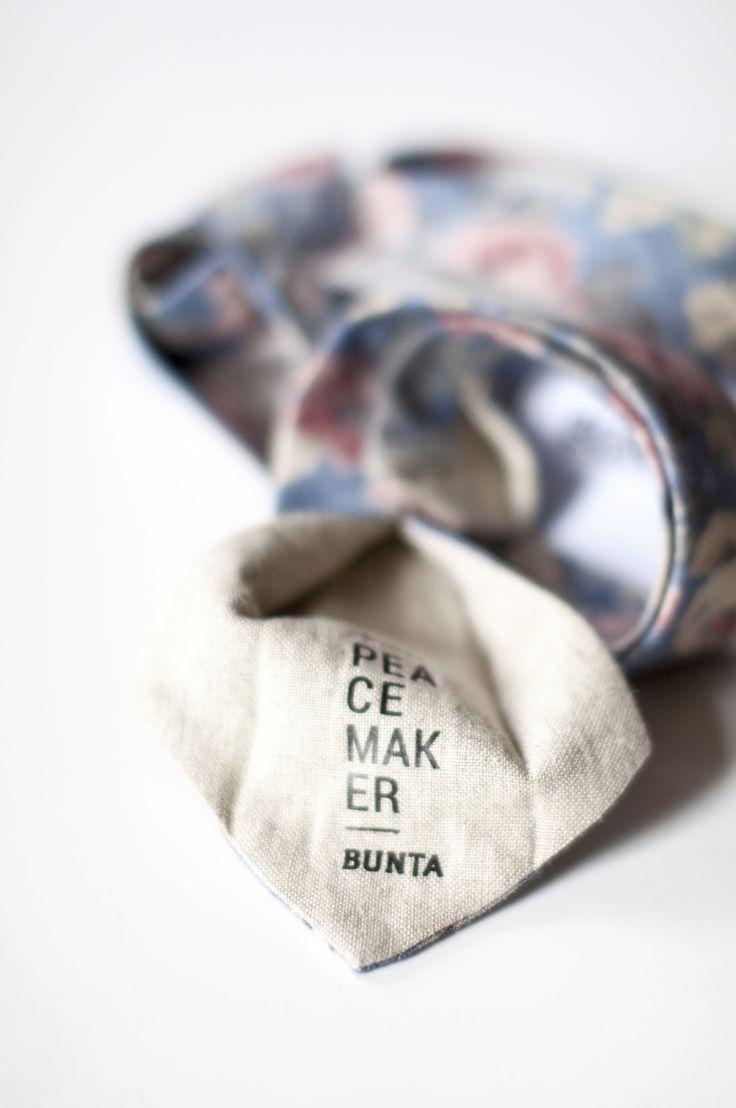 Bunta Peacemaker floral tie  Label  Photo: Nat Rusinowska  #tie #floral #menswear