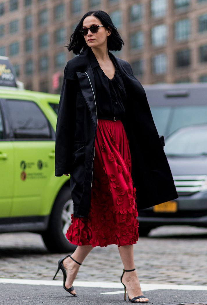 Street Style Trend: Midi Skirts + Long Jackets, 15 Cool Outfit Ideas To Copy @stylecaster