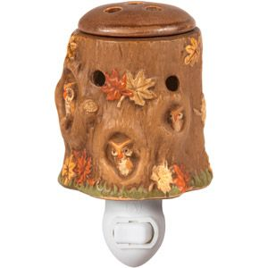 Better Homes and Gardens Plug-In Owl Glen Wax Warmer, Brown