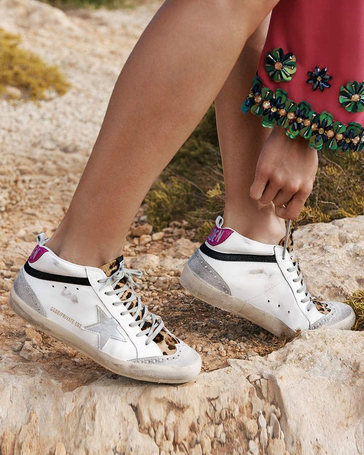 Golden Goose Mid Star Leopard High Top Sneakers In 2020 Suede High Top Sneakers Golden Goose Sneakers High Top Sneakers