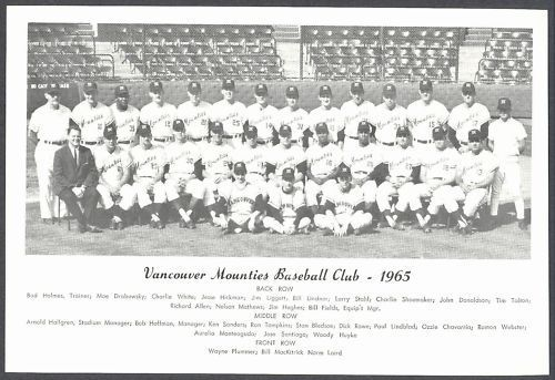 1965 Vancouver Mounties (AAA affiliate of the Kansas City Athletics)
