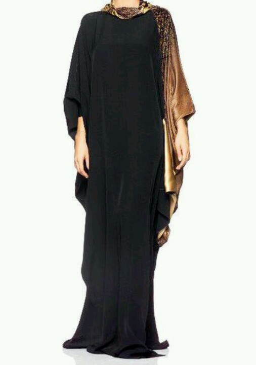 Love this simply unique abaya design....suitable for special occassions