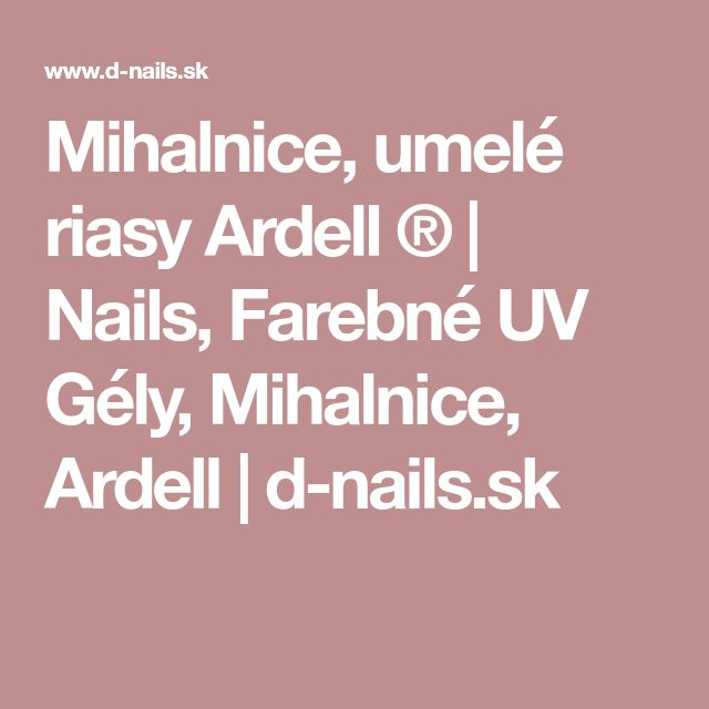 Mihalnice, umelé riasy Ardell ® | Nails, Farebné UV Gély, Mihalnice, Ardell | d-nails.sk