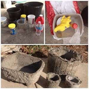Hypertufa DIY - dig through your recycling bin for containers that ...