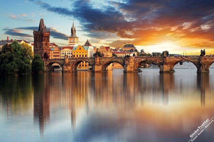 Карлов Мост, Прага, Чехия Достопримечательности Праги, Charles Bridge Prague Czech Republic morning
