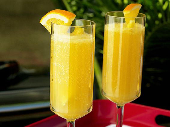 pineapple orange mimosa (bottle of champagne + ¼ cup pineapple juice ...