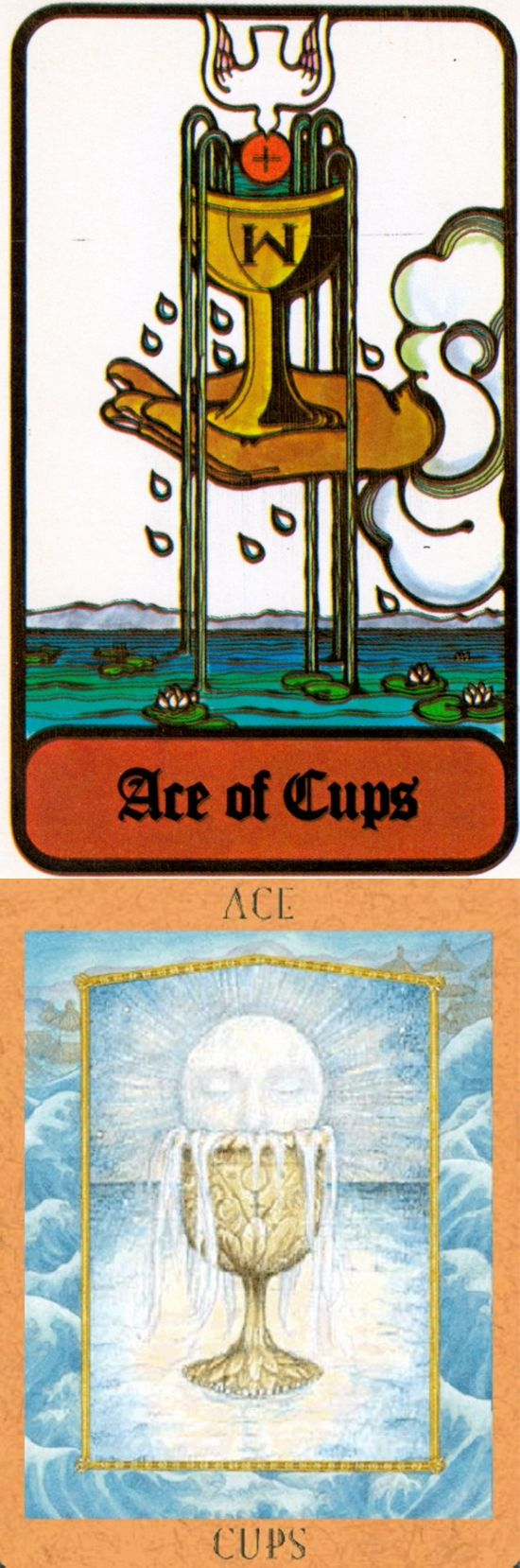 Ace of Cups: beginning of emotional fulfillment and blocked creative potential (reverse). Hoi Poloi Tarot deck and Goddess New Tarot deck: free one card tarot reading yes or no, tarottablecloth and free love tarot question. Best 2017 guessing jars and lenormand.