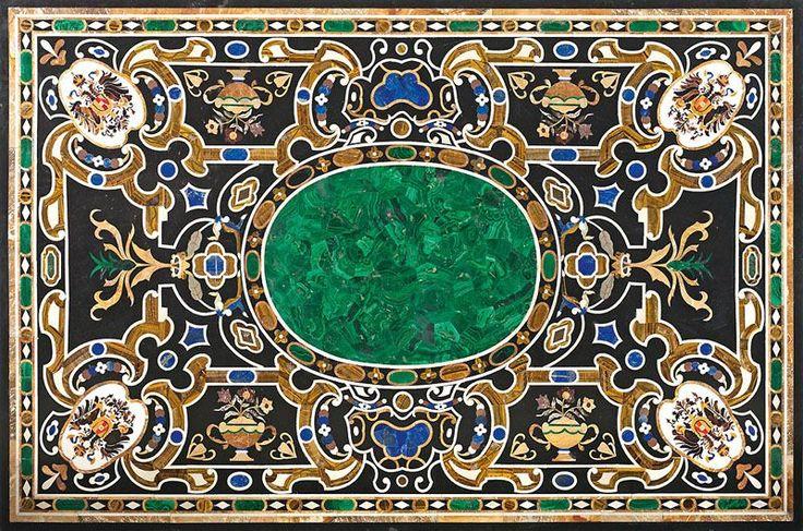1728 besten pietra dura bilder auf pinterest mosaik for Schwarzer marmortisch