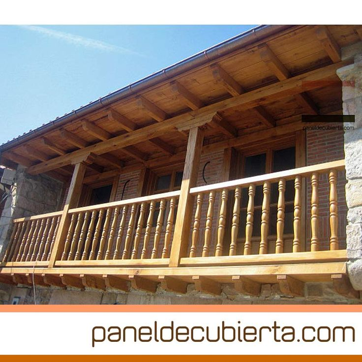 Alero balc n y carpinter a exterior de madera panel for Tejados de madera para exterior