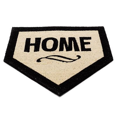 Doormat for the baseball lover, $22 MUST GET! haha