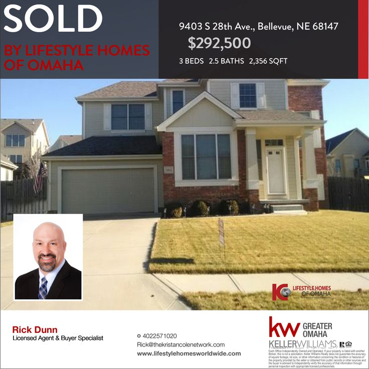 We would like to congratulate our clients, the sellers of this property at 9403 S 28th Ave., Bellevue, NE! Thank you for trusting us with this deal.  If you are also thinking of selling your home don't hesitate to Call us at 402-257-1020 or email us at Worldwide@theKristanColeNetwork.com.  To check the value of your home in less than a minute w/o speaking with an agent click here --> http://instanthousevaluenow.com/