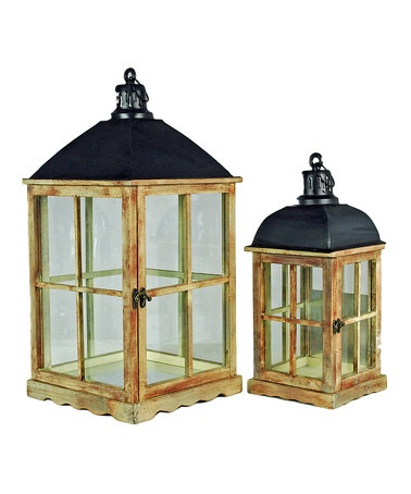 Take a look at this Black & Natural Lantern Set by Galt International on #zulily today!