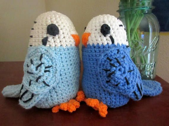 Check out this item in my Etsy shop https://www.etsy.com/listing/547073919/parrot-plush-blue-budgies-crochet