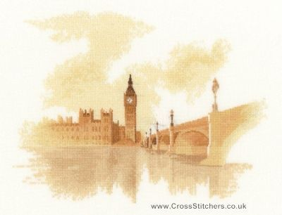 Westminster - John Clayton Watercolours Cross Stitch Kit from Heritage Crafts
