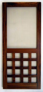 Sweet Interlaced Wood Screen Door